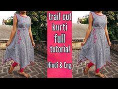 Trail cut kurti ( cutting & stitching ) - YouTube
