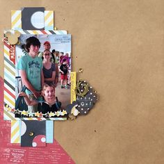 I made a second page using the same sketch to pair with my Follow Me layout. I haven't decided if I'm going to add as many sequins, so for now....I'm calling it done!! #simplestories #disneyscrappers #scrapbooking #paperissues