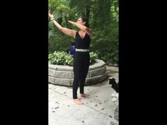 Turn body look up at moon Qi gong exercise 8