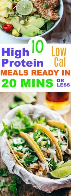It's hard to fend off cravings when you have a low protein diet. These are big on protein, low on calories, easy to make and delicious. High protein | low calorie | healthy meals | delicious healthy meals | high protein food. All Protein Diet, High Protein Recipes, High Protein Meal Prep, High Protein Dinner, Healthy Protein, Low Calorie High Protein, Foods High In Protein, Protein Diets, Low Calorie Breakfast