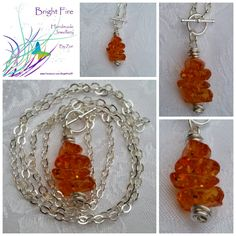 Faux amber stack necklace