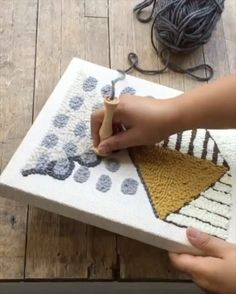 ニードルパンチ刺繍