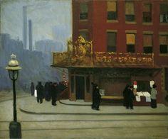 Edward Hopper - New York Corner (Corner Saloon), 1913. Oil on canvas.