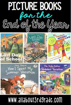 At the end of the school year make some time for some fun read alouds!  These five picture books are definitely something your students will enjoy.
