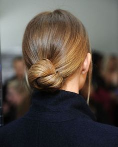 Love the color, love the hair style. Simple & elegant.