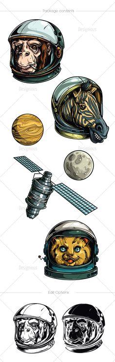 Astronauts Vector Pack 1 | Designious