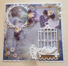 Vintage, Lavender Bird Song Vintage Style, Vintage Fashion, Mothers Day Cards, Baby Cards, Vintage Cards, Handmade Cards, Lavender, Shabby Chic, Bird