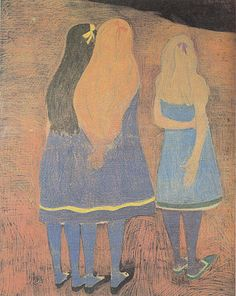 Leon Spilliaert - Girls Seen From the Back 1912  www.reproduction-gallery.co...