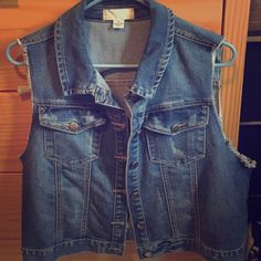 Forever 21 denim vest Size 2x denim vest . Excellent condition. Worn one time . Forever 21 Jackets & Coats Vests