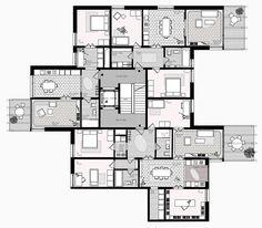 housing Obsthalden splitlevel - Zürich  - Switzerland - 2015 - Atelier Abraha Achermann