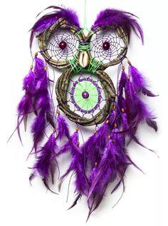 dreamcatcher | filtro dos sonhos - coruja cipó natural