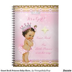 Shop Guest Book Princess Baby Shower Pink Blonde Girl created by VintageBabyShop. Baby Shower Princess, Baby Princess, Little Princess, Blonde With Pink, Pink And Gold, Invitation Paper, Baby Shower Invitations, Blonde Babies, Girl Shower