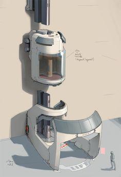 Scifi Lift - Polycount Forum
