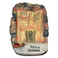 Resin Fridge Magnet: Jordan. Petra