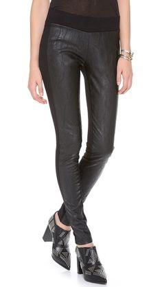 EVLEO Faux Leather Leggings