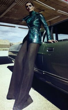 Emerald and Black // Texture #fashion