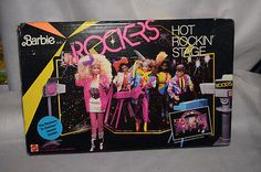 Vintage 1985 Barbie and the Rockers Hot Rockin Stage Playset GUC