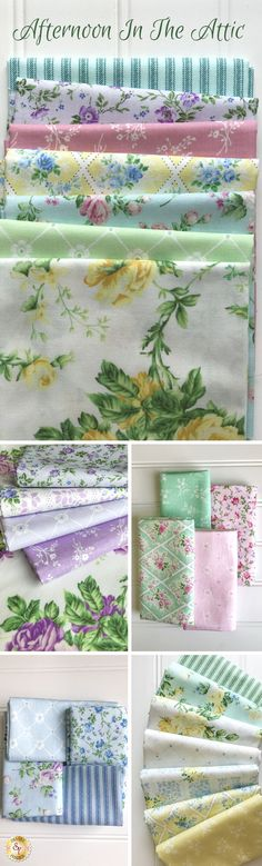 Afternoon In The Attic by RJR Fabrics is a charming floral fabric collection available at Shabby Fabrics!