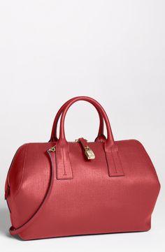 Lipstick red Furla satchel. Perfection?