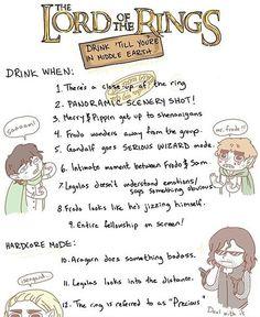 LOTR Drinking Game
