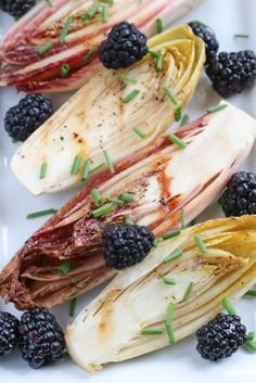 Grilled Endive & Blackberry Salad