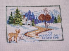 Completed Cross Stitch Handstitched Embroidery by WitsEndDesign, $20.00