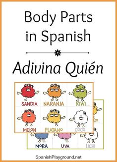 This printable Spanish body parts game uses monsters to teach key vocabulary. Spanish Games For Kids, Spanish Activities, Learning Activities, Teaching Ideas, Spanish Basics, Spanish Lessons, Spanish Class, Spanish 1, Spanish Language Learning