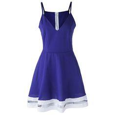 Cute Sleeveless Spaghetti Strap Empire Chiffon Mini Dress