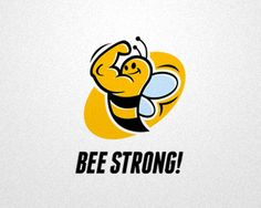 Bee Strong | #DoubleConcept logo design inspiration