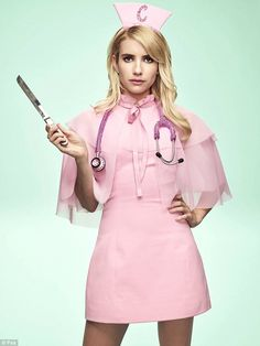 She's back! Emma Roberts donned a bright pink dress adorned with a rhinestone…