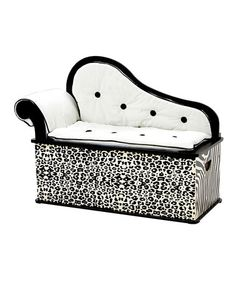 Take a look at this Wild Side Storage Bench by Levels Of Discovery on #zulily today! This was made for you @Heather McCain Couch