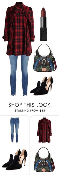 """Untitled #1781"" by christawallace ❤ liked on Polyvore featuring Chicwish, Gianvito Rossi, Gucci and NARS Cosmetics"