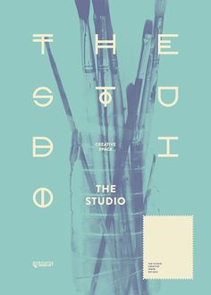 Unique Graphic Design, The Studio via @franck_vionnet #Graphic #Poster #Design