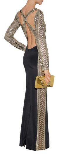 EMILIO PUCCI Bead Embellished Silk Evening Gown