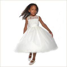 Minnie Flower Girl Dress with Diamante Trim