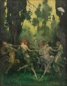 """Dance of the Forest Nymphs"" by Warren B. Davis (1865 – 1928)"