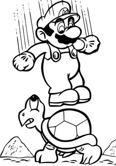 mario bros coloring page - Coloring Pictures Of Cartoon Characters