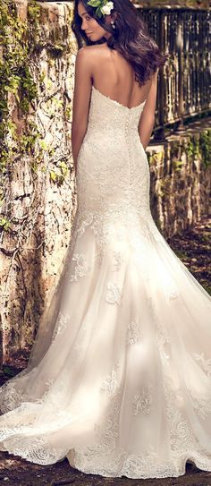 Maggie Sottero - SAIGE, so flattering! This is your dreamy lace fit-and-flare ;)