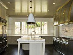 Limestone & Boxwoods - Perfect English - Benecki Fine Homes - kitchen, LaCanche range, Visual Comfort pendant lights, SubZero fridge