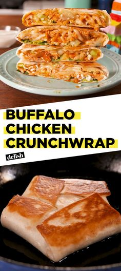 Taco Bell Fans, You Need To Try This Buffalo Chicken Crunchwrap. - Recipes - Taco Bell Fans, You Need To Try This Buffalo Chicken Crunchwrap.Delish Informations About Taco Bell - I Love Food, Good Food, Yummy Food, Tasty, Chicken Crunchwrap Recipe, Mexican Food Recipes, Dinner Recipes, Taco Bell Recipes, Hamburger Recipes