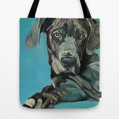 Mix, The Best Kind, Greyhound and Lab! Tote Bag by Evelyn McCorristin Peters Art - $22.00