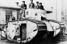 British Tanks of the Inter-war Decades - 1919 - A Medium Mark B Tank captured by the Red Army during the Russian Civil War
