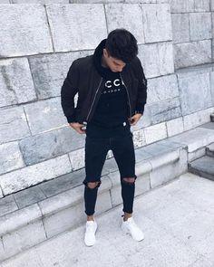 Slim Fit Ripped Jeans Men Hi-Street Mens Joggers Destroyed Jeans – myshoponline.com