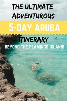 See the adventurous side of Aruba including the Natural Pool, Jeep adventures, hidden beaches, the famous flamingos, and more with this perfect itinerary. Beach Vacation Tips, Best Island Vacation, Beach Vacation Rentals, Beach Trip, Vacation Spots, Trips To Aruba, Vacation Pictures, Beach Travel, Vacation Ideas