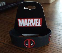 Marvel WRISTBANDS - Deadpool Logo *Bioworld* #Bioworld