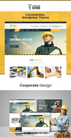 Buy Construction - Constructor by themexriver on ThemeForest. Constructor One – Construction WP Theme. Constructor One is a construction based WP Theme. This theme is specially d. Website Design Layout, Wordpress Website Design, Web Layout, Layout Design, Web Ui Design, Web Design Company, Construction Website, Construction Business, Pag Web