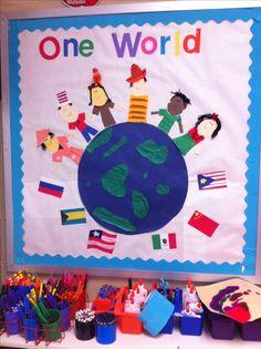 All around the world bulletin board cypress ranch high school preschool