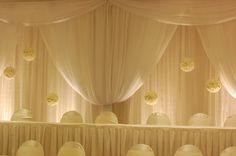 Crystal Backdrop with Chiffon Hourglass Drapery