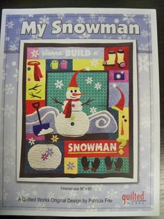 Items similar to My Snowman Applique Pattern on Etsy Halloween Applique, Christmas Applique, Snowman Quilt, Christmas Runner, Applique Templates, Build A Snowman, Winter Theme, Embroidery Stitches, Reindeer