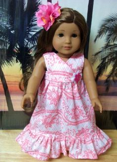 KANANI 18 INCH DOLL CLOTHES-PINK BEACH DRESS SET - eCrater Stores Network